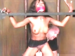 Stacy Cash Ebony BDSM Bondage