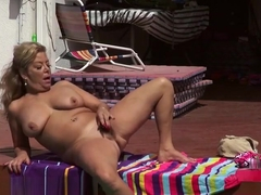 Supreme busty experienced female Karen Summer Masturbate her juicy pussy
