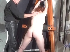 Swedish amateur submissive Vicky Valkyries dungeon bondage o