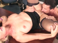 Hot wife Laura Layne eats cum - 50PlusMilfs