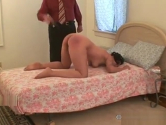 Old Master punishes his pretty black domestic slavegirl 2