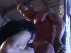 Regan Reese and Victoria Sin pleasure muscled bikers