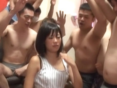 Uta Kohaku naughty Asian chick in hardcore gangbang