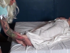 Medi-spa foot worship with Kayla Jane and Melodie