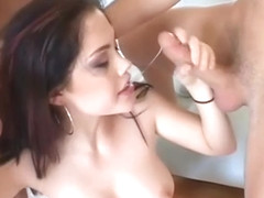 Crystal Clear sucking and fucking big dicks
