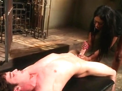 Seducing Nyomi Banxxx acting in BDSM video