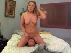 Racy platinum mom Aurora Snow is making dude cum