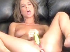 Presley Hart Spreads Her Naked Body Across The Couch And Masturbates