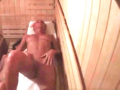Two Amazing Figures Spied in Sauna