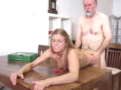 Chrissy Fox is having sex with an elderly man from her neighborhood, to earn some cash