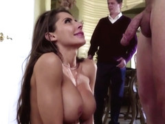 Madison Ivy Hot Mom At Dinner