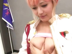 Supreme breasty asian Haruki Sato giving an amazing handjob