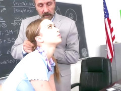 Jill Kassidy is a naughty blonde chick who likes to fuck her teacher in the classroom