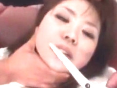 Incredible Japanese model Riku Hinano in Amazing Doggy Style, Small Tits JAV clip