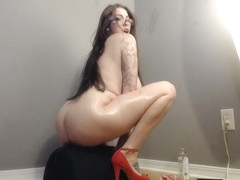 JessieMinx Full Nude Oil Ride in private premium video
