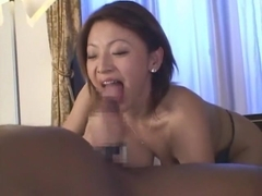 Amazing Japanese model Reiko Yamaguchi in Incredible Big Tits, Interracial JAV clip