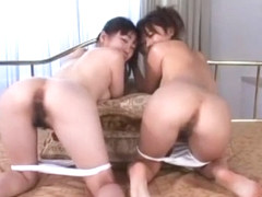 Exotic Japanese whore Rio Kitajima, You Kitajima in Amazing Lesbian, Panties JAV scene