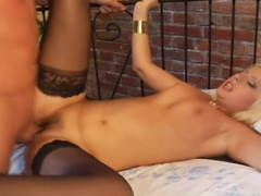 Dirty whore Daria Glover gets cock stuffed up her gaping hole