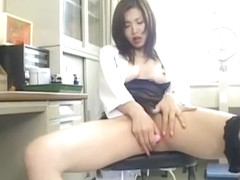 Mai Hanano Pleasures Her Crack With Sex Toys Till Gets
