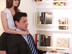 Bodacious Brooklyn Chase horny at the office for fucking