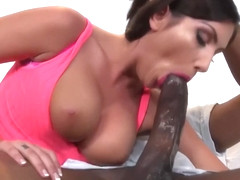 August Ames takes the BIGGEST Black Cock she ever had!