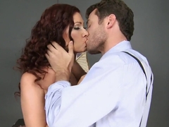 Hot Tiffany Mynx and her boss James Deen have sex in an office