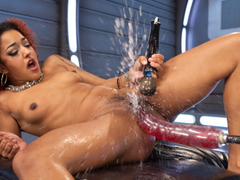 Incredible squirting, fetish xxx movie with fabulous pornstar Daisy Ducati from Fuckingmachines