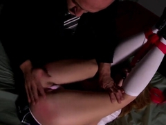 Nataly Von gets tied up and spanked