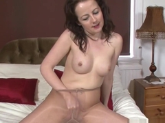 Milf Enjoys Dildo Fucking in Pantyhose