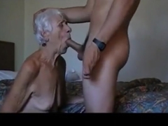Very old granny loves young boys. Amateur older