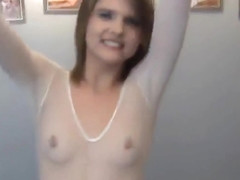 Young Scarlett Fever is acting in reality porn video