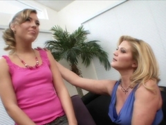 Fabulous pornstars Ally Kay and Ginger Lynn in best blonde, college porn clip