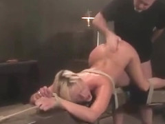 Jasmine Jolie enjoys being tied up and mouth-fucked in BD...