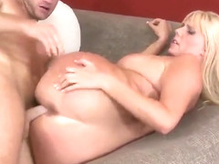 Enticing breasty mature lady Karen Fisher in wild hardcore drilling