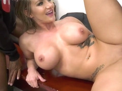 Cali Carter is a cock loving darling who likes to do it with two black guys
