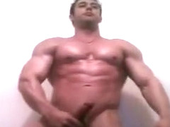 Fabulous male in amazing handjob, hunks gay sex video