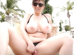 poolside pussy play