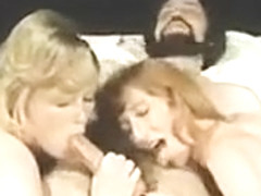 Double blowjob blonde amateur slut threesome
