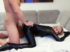 german bitch in a catsuit