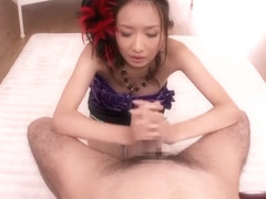 Racy woolly Japanese young tart Kana Narimiya play with her cunt
