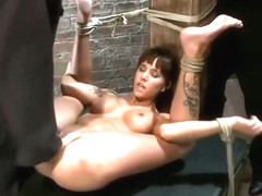 Cute Haley Wilde acting in BDSM video