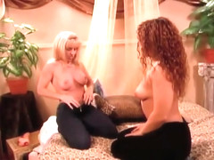 Mature Carol Tries Out New A New Strap-On with Young Eve