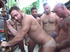 Horny gay clip with Sex, Gangbang scenes