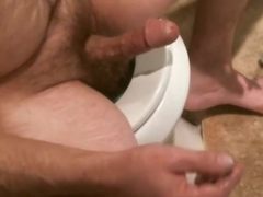Smoking and stroking small cock
