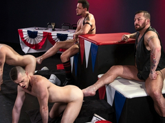 Hugh Hunter & Axel Abysse & Joey D & Sam Syron in World Series of Fisting - ClubInfernoDungeon