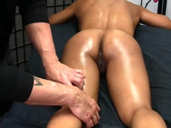 Sexy Exotic MILF Gets Erotic Oil Massage w/ Blowjob