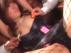 Fabulous Japanese slut Yume Ayaka in Incredible Fishnet, Lingerie JAV clip
