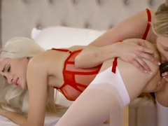 Naomi Woods and Karla Kush First Interracial Threesome
