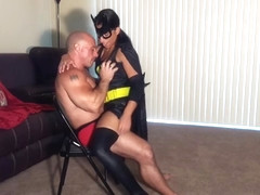 Bat girl lap dance