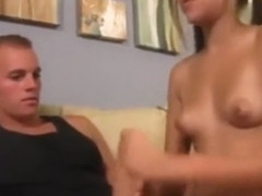 Zoey Foxx gives handjob to stepbrother